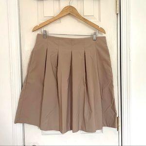 NWOT Tan / Khaki Colored Pleated Flare Skirt